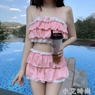 日系甜美可愛分體式顯瘦保守蕾絲游泳衣女夏季仙氣泳裝2021年新款 小艾新品