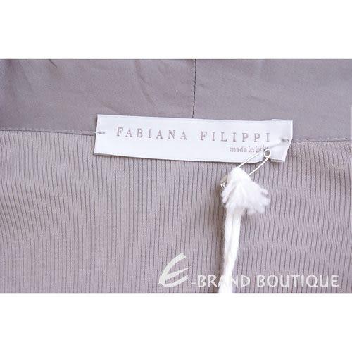FABIANA FILIPPI 灰芋色單釦拼接短袖上衣 1220033-06