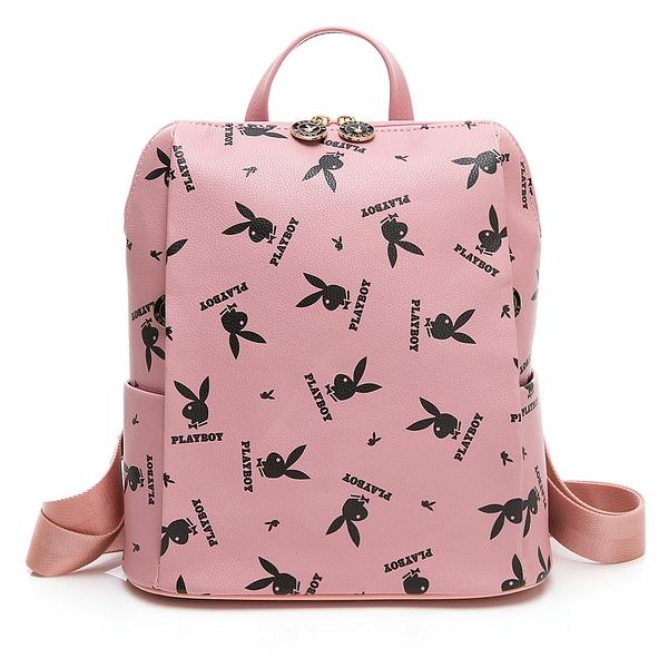 PLAYBOY- 後背包 Refresh活力兔系列 -粉色