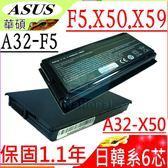 ASUS F5,X50,X59 電池-華碩 F5R, FRM,F5N,F5RI,F5SL,F5V, F5VI,F5R,A32-F5,F5VL,BATAS2000