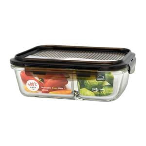 樂扣樂扣積木耐熱分隔玻璃保鮮盒930ml/長方形