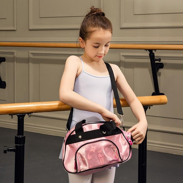 芭蕾舞單肩背包PU防水斜背包現代舞收納包 黛尼時尚精品
