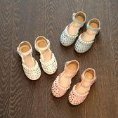 夏季新款韓版女童涼鞋公主鞋鏤空包頭寶寶鞋兒童沙灘鞋女童鞋 美芭
