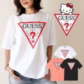 IMPACT Guess x Hello Kitty Logo Tee 黑 白 凱蒂貓 聯名 倒三角 短T 男女可穿 MZ3K7772HK