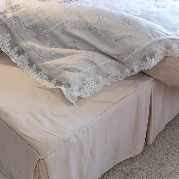 天絲床組  小枝芽 QPS3雙人加大鋪棉床裙鋪棉兩用被四件組(40S) 100%木漿纖維