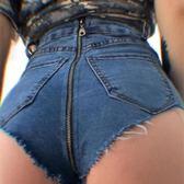 酒吧夜場成人ds演出服dj爵士舞短褲歐美女歌手高腰牛仔舞蹈熱褲