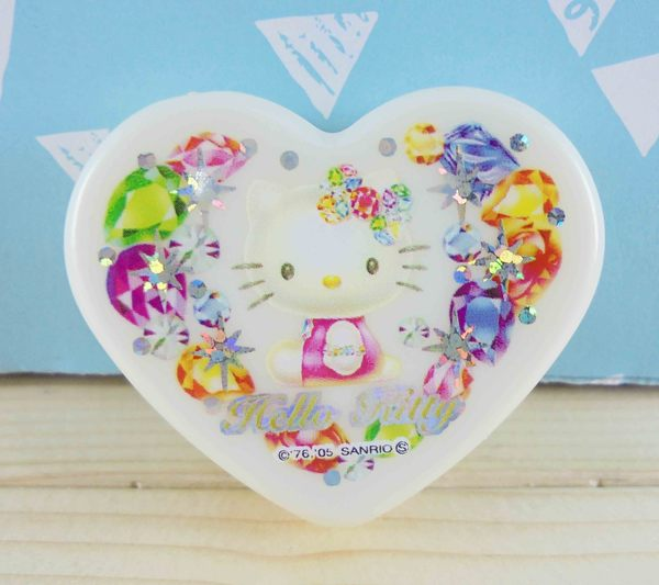 【震撼精品百貨】Hello Kitty 凱蒂貓~KITTY心形飾品盒-寶石圖案S