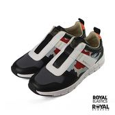 Royal 新竹皇家 Ridder 黑色 皮質 塗鴉 舒適 套入式 休閒鞋 男款 NO.B0612