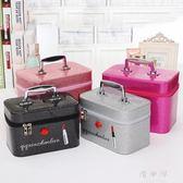 少女可愛納盒品便攜妝裝箱 簡約收小號化妝包容量方包大手提化 BT11964『優童屋』