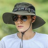 男漁夫帽戶外防曬遮陽帽沙灘釣魚帽