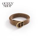 Queen Shop【07100087】百搭素色橢圓造型皮帶 兩色售*現+預*