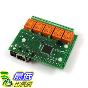 [8美國直購] Ethernet Relay Card 5 Channel - SNMP, HTTP/XML API, Real Time Clock