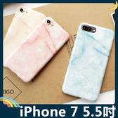 iPhone 7 Plus 5.5吋 大理石保護套 軟殼 晶透暖色系 多層次石頭紋 光澤亮面 矽膠套 手機套 手機殼