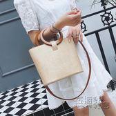 包包女夏季新款潮大容量草編包韓版百搭手提單肩包斜背包 衣櫥の秘密