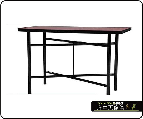 {{ 海中天休閒傢俱廣場 }} C-99 摩登時尚 餐桌系列 464-12 2X4尺美耐板餐桌/烤黑高腳(顏色可挑選)
