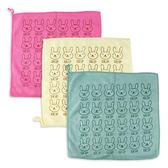 兔子小方巾/擦手巾/清潔抹布 乙條入 隨機出貨不挑款/色 ◆86小舖◆