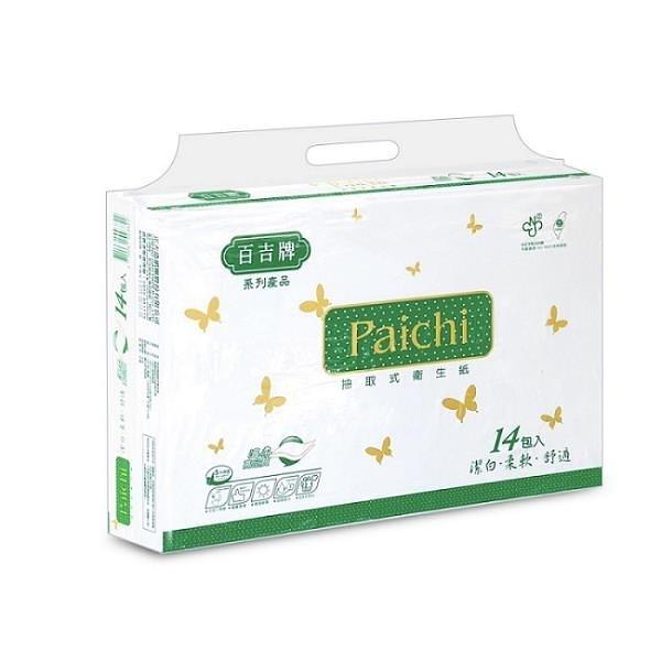 【南紡購物中心】百吉牌 Paichi抽取式衛生紙100抽x14包x8袋