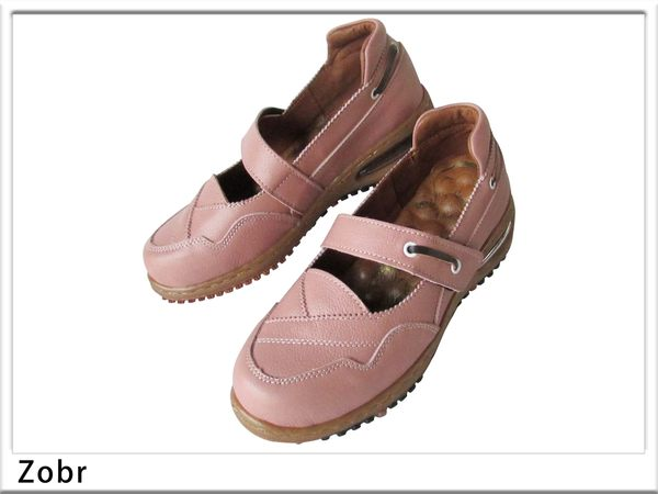 『雙惠鞋櫃』★路豹Zobr★MIT台灣製造 ★基本款 交叉線條女牛皮休閒鞋 (BB631) 粉