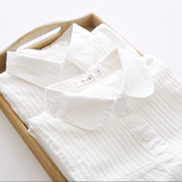 2020秋季新款娃娃領純棉白色襯衫女長袖學生寬鬆百搭內搭襯衣上衣 快速出貨