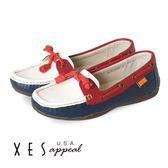 XES 女鞋 撞色個性 休閒鞋 像膠大底 防滑耐磨 藍色