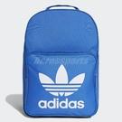adidas 後背包 Classic Trefoil Backpack 藍 白 男女款 經典款 三葉草 【PUMP306】 DJ2172