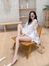 新款連身游泳衣女泡溫泉性感時尚罩衫仙女范年ins 格蘭小鋪