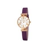 【Folli Follie】MINI DYNASTY奢華晶鑽羅馬時尚腕錶/WF15B028SSW_PU/台灣總代理公司貨享兩年保固