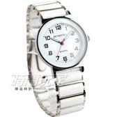 BETHOVEN 日本機芯 都會時尚數字時刻防水腕錶 男錶/中性錶/女錶/都適合 白色 BE3984白大