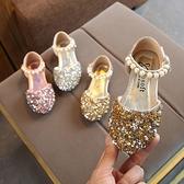 降價兩天 皮鞋女童 水鉆珍珠公主鞋 女童半涼鞋 公主鞋軟底單鞋