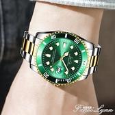 手錶男士全自動正品綠水鬼男錶時尚商務韓版非瑞士黑水怪機械錶男 范思蓮恩