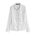 【MASTINA】點點造型襯衫-白 06...
