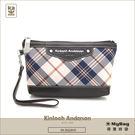 Kinloch Anderson 金安德森 皮夾 英式學院 黑色 經典格紋布女夾 手拿包  KA151206 MyBag得意時袋