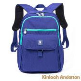 【金安德森】極簡玩色 大容量雙拉鍊經典後背包-亮麗藍綠