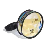 adidas 腰包 Round Waist Bag 黑 彩色 女款 斜背包 鏡面 運動休閒 【ACS】 FM3262