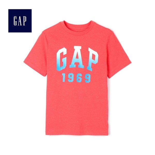 Gap男童 Logo活力亮色印花短袖T恤 469487-辣椒紅