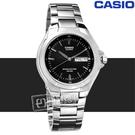 CASIO / MTP-1228D-1A / 卡西歐十年電力日期星期防水不鏽鋼手錶 黑色 38mm