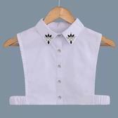 假領子假領片韓版假衣領 寶石款 罩衫洋裝襯衫針織大學T外套內搭白色滿額送愛康衛生棉[E1419]預購