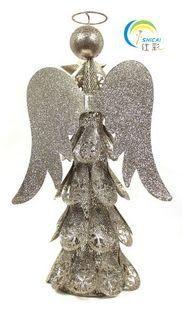 聖誕禮品 聖誕擺件 大號精美聖誕金粉香檳天使
