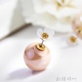 靜風格甜美花朵人造珍珠耳環百搭時尚耳釘女氣質簡約日韓耳飾品 歐韓時代