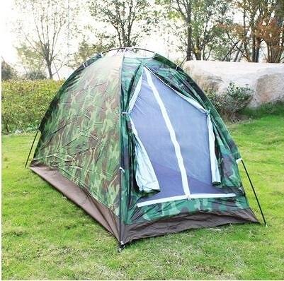 單人單層戶外露營帳篷旅遊帳篷 野外單兵迷彩帳篷