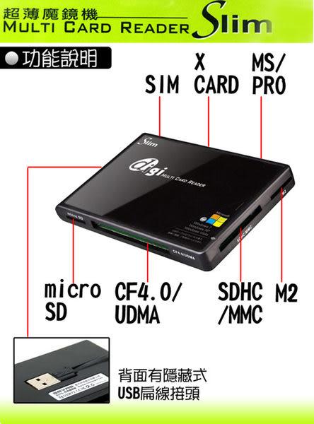 SEVAS 藍光科技 S270 digi 超薄魔鏡 讀卡機 (SDXC/MS/M2/microSD/xD/CF/SIM)