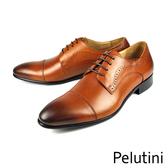 【Pelutini】橫飾德比鞋 咖啡色(9124-BR)