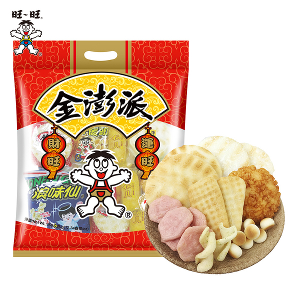 旺旺 金澎派 350g/包 仙貝雪餅小饅頭雪餅仙貝酥厚燒紅麴浪味仙 綜合包 大禮包 小包裝