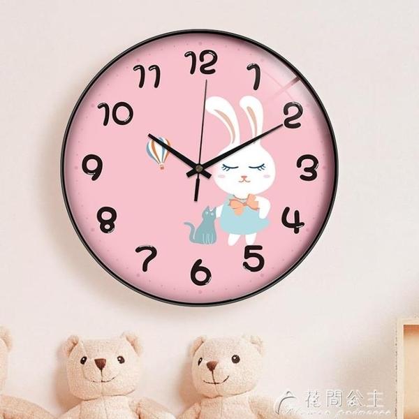 掛鐘卡通兒童超靜音鐘表掛鐘家用客廳臥室可愛時尚創意時鐘表掛牆簡約 快速出貨