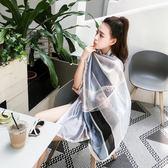 2018新款絲巾女夏季度假防曬披肩圍巾兩用沙灘巾超大海邊海灘紗巾   初見居家