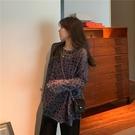 防曬衣 2021新款夏季韓版豹紋薄款防曬衣寬鬆大版罩衫網紅長袖T恤女ins潮