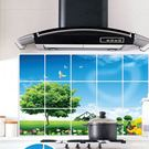 防油壁貼  藍天大樹 磁磚貼 45*75cm廚房壁貼 想購了超級小物
