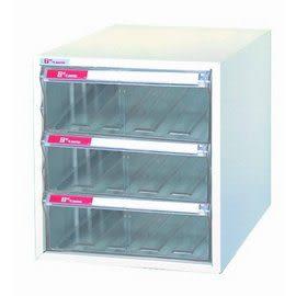 樹德 A4-103H 單排29cm高 桌上型資料櫃(透明抽)