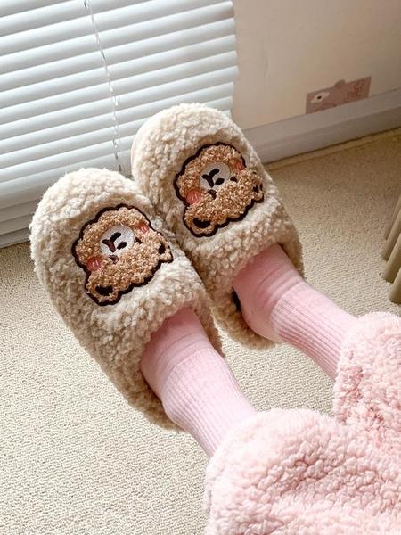棉拖鞋女冬家用防滑可愛室內居家宿舍毛絨情侶拖鞋男冬季2021新款 格蘭小鋪