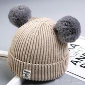 寶寶毛線帽子針織秋冬季兒童加絨女童0嬰兒1男童2女孩3韓版潮4歲 鹿角巷